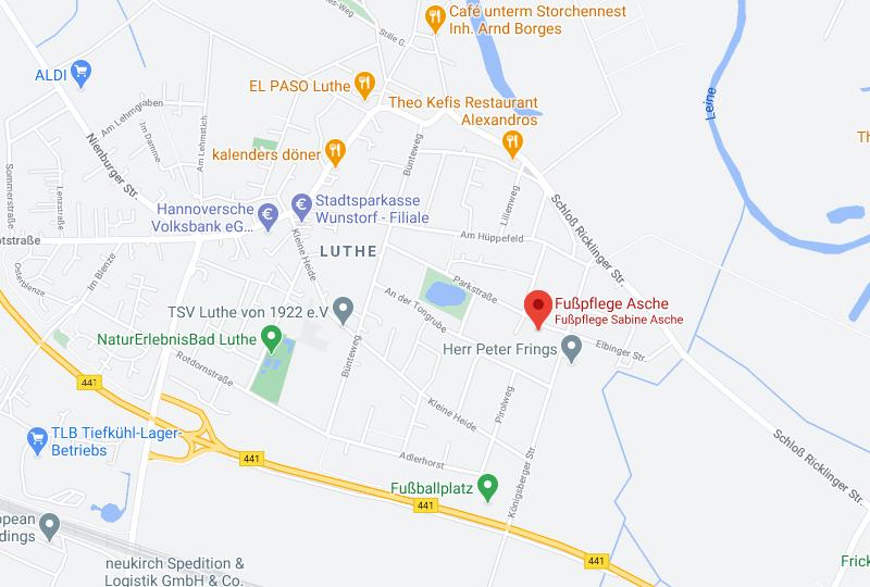 Google Maps Fußpflege Asche