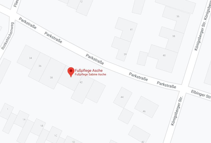 Google Maps Fußpflege Asche Details